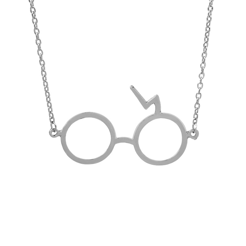 Harry Potter Lightning Glasses Necklace