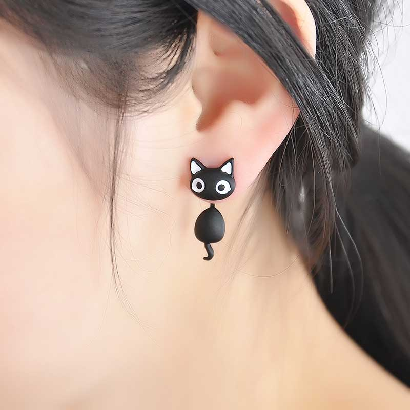 Cat Stud Earings