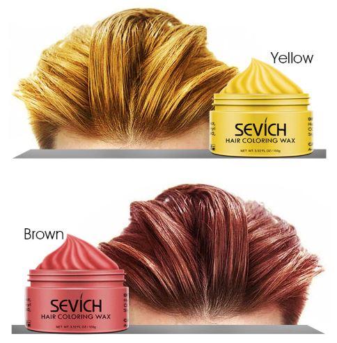 Hair coloring wax