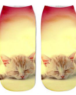 3D Printed Women's Cat Socks (sleepy)