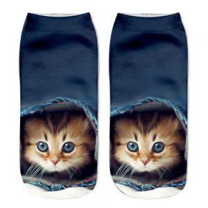 3D Printed Women's Cat Socks (peek-a-boo)