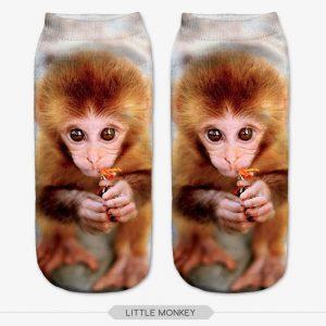 Monkey 3D Printed Animal Socks