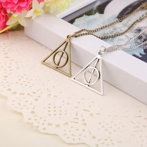 Harry Potter Deathly Hallows Pendant Triangle Necklace