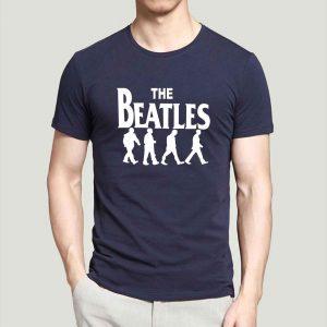 The Beatles Mens Tee Blue Gray